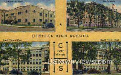 Central High School - Fort Wayne, Indiana IN Postcard