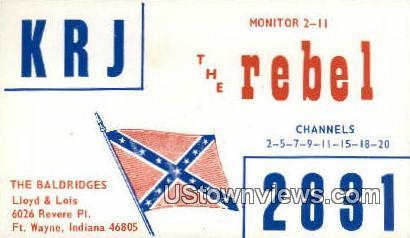 KRJ 2831, The Baldridges - Fort Wayne, Indiana IN Postcard