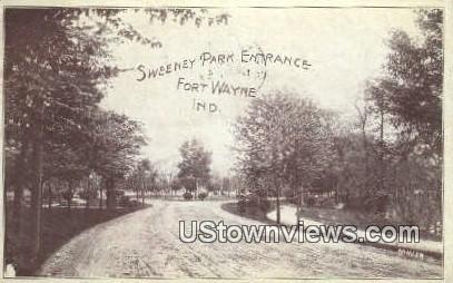 Sweeney Park Entrance - Fort Wayne, Indiana IN Postcard