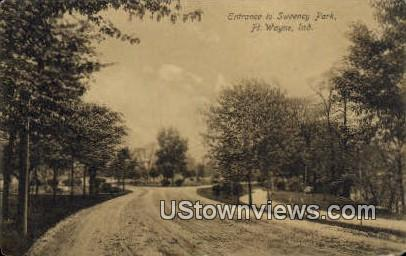 Entrance to Sweeney Park - Fort Wayne, Indiana IN Postcard
