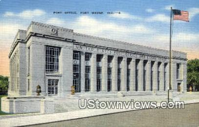 Post Office, Fort Wayne - Indiana IN Postcard