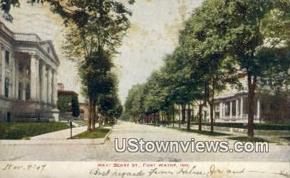 West Berry St - Fort Wayne, Indiana IN Postcard