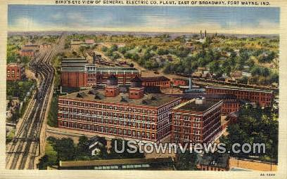 General Electric Co Plant - Fort Wayne, Indiana IN Postcard