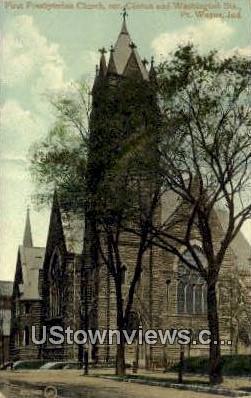 First Presbyterian Church - Fort Wayne, Indiana IN Postcard