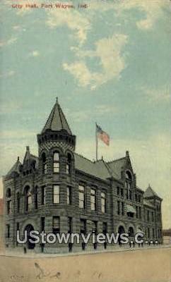 City Hall, Fort Wayne - Indiana IN Postcard