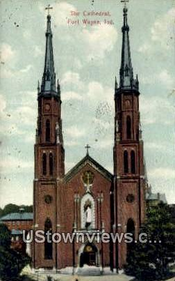 The Cathedral - Fort Wayne, Indiana IN Postcard