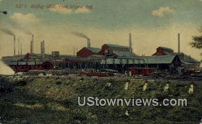 Rolling Mills - Fort Wayne, Indiana IN Postcard