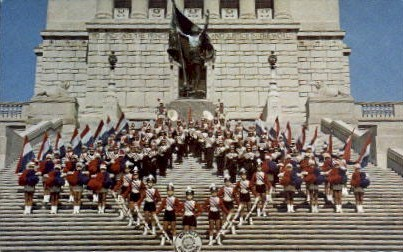 Roncalli High School Band - Misc, Indiana IN Postcard
