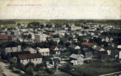 Bird's Eye View - Garrett, Indiana IN Postcard