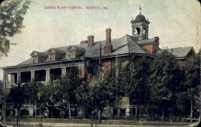Sacred Heart Hospital - Garrett, Indiana IN Postcard