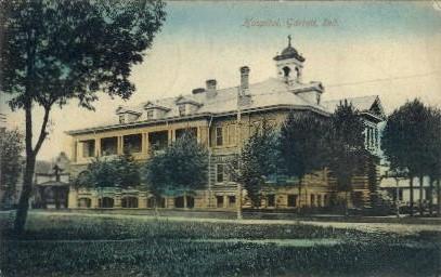 Hospital - Garrett, Indiana IN Postcard