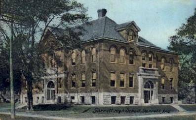Garrett High School - Indiana IN Postcard