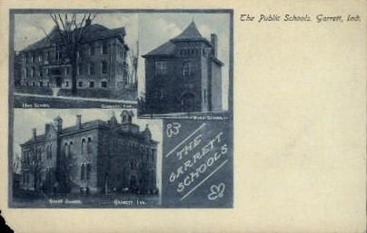 The Public Schools - Garrett, Indiana IN Postcard
