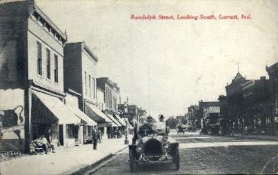 Randolph Street - Garrett, Indiana IN Postcard