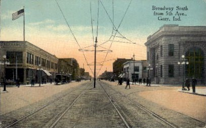 Broadway South - Gary, Indiana IN Postcard
