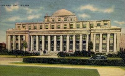 City Hall - Gary, Indiana IN Postcard