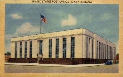 U.S. Post Office  - Gary, Indiana IN Postcard