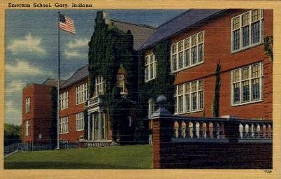 Emerson School - Gary, Indiana IN Postcard