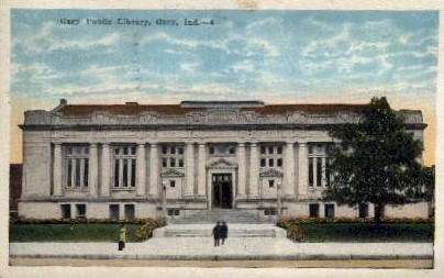 Public Library - Gary, Indiana IN Postcard