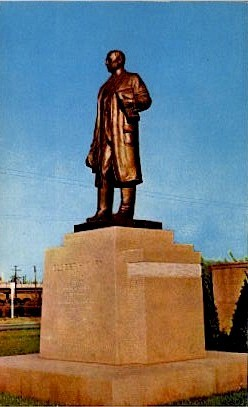 Statue of Judge Elbert H. Gary - Indiana IN Postcard