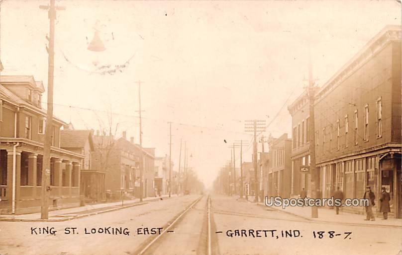 King Street - Garrett, Indiana IN Postcard