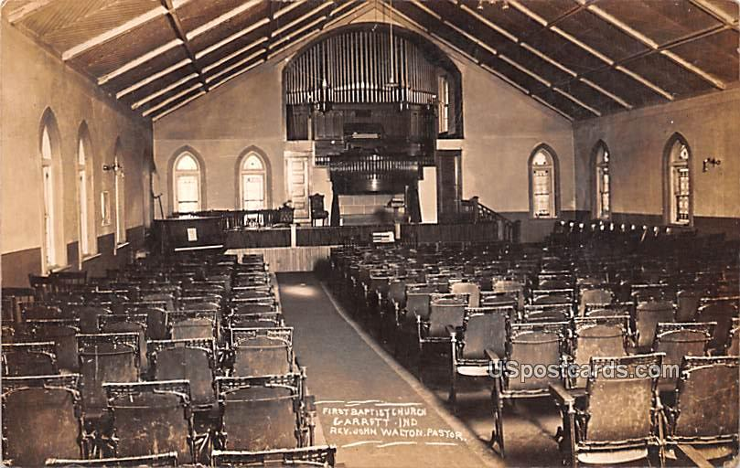 First Baptist Church - Garrett, Indiana IN Postcard