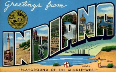 Greetings From - Misc, Indiana IN Postcard