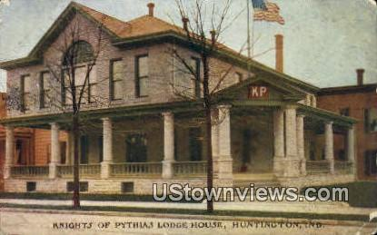 Knights of Pythia's Lodge House - Huntington, Indiana IN Postcard