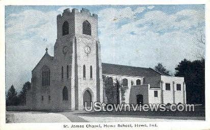 St. James Chapel - Howe, Indiana IN Postcard