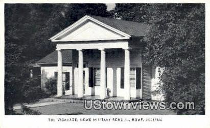 Vicarage, Howe Military School - Indiana IN Postcard