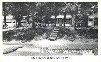 Howe Military School Summer Camp - Misc, Indiana IN Postcard