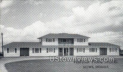 Vistula Trail Motel - Howe, Indiana IN Postcard