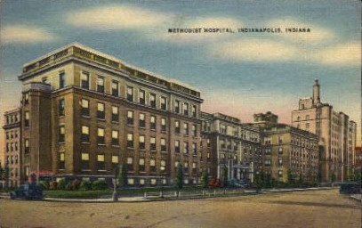 Methodist Hospital - Indianapolis Postcards, Indiana IN Postcard