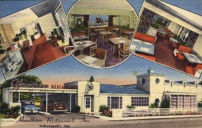 Hawthorn Restaurant, Inc. - Indianapolis Postcards, Indiana IN Postcard
