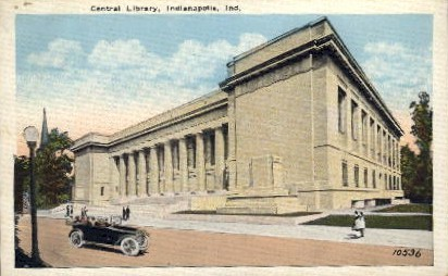 Central Library - Indianapolis Postcards, Indiana IN Postcard