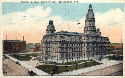 Marion County House - Indianapolis Postcards, Indiana IN Postcard