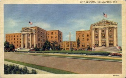 City Hospital - Indianapolis Postcards, Indiana IN Postcard