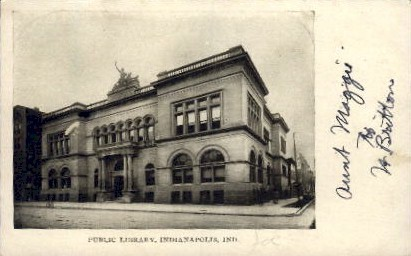 Public Library - Indianapolis Postcards, Indiana IN Postcard