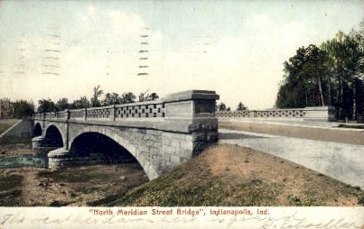 North Meridian Street Bridge - Indianapolis Postcards, Indiana IN Postcard
