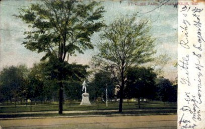 St. Clair Park - Indianapolis Postcards, Indiana IN Postcard