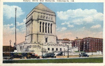 Indiana World War Memorial - Indianapolis Postcards Postcard