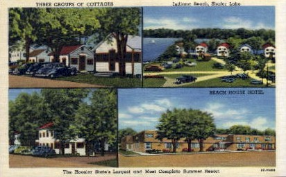 Three Groups of Cottages - Indianapolis Postcards, Indiana IN Postcard