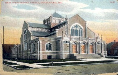 First Presbyterian Church - Indianapolis Postcards, Indiana IN Postcard