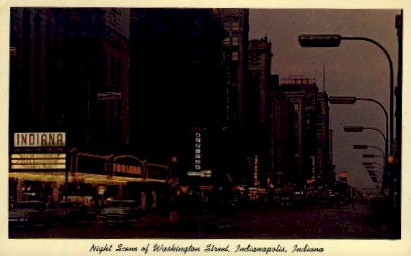Washington Street - Indianapolis Postcards, Indiana IN Postcard