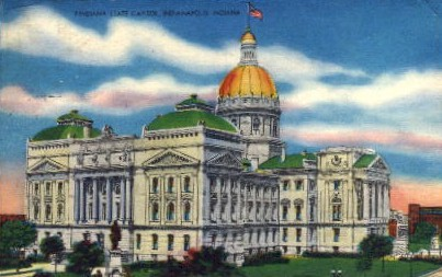 Indiana State Capitol - Indianapolis Postcards Postcard