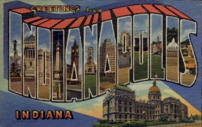 Greetings From - Indianapolis Postcards, Indiana IN Postcard