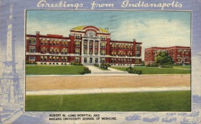 Indiana University School of Medicine - Indianapolis Postcards Postcard