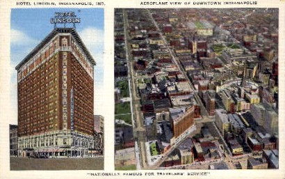 Hotel Lincoln - Indianapolis Postcards, Indiana IN Postcard