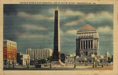 World War Memorial - Indianapolis Postcards, Indiana IN Postcard