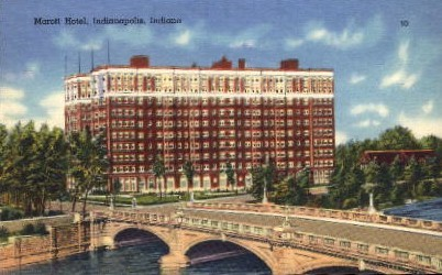Marott Hotel - Indianapolis Postcards, Indiana IN Postcard